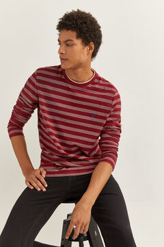 Springfield LONG-SLEEVED STRIPED T-SHIRT deep red