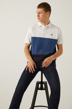 Springfield Three-tone piqué polo white