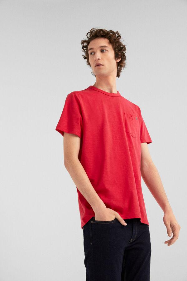 5718a9080 Springfield Camiseta manga corta bolsillo fresa