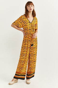 Springfield Long printed jumpsuit  color