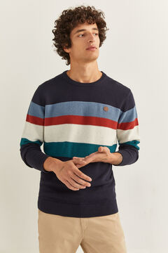 Springfield TEXTURED STRIPES JUMPER blue