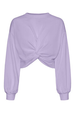 Springfield Crop sweatshirt purple