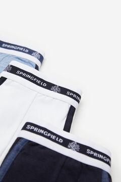 Springfield Pack 3 bóxers básicos azul