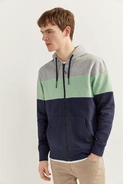 Springfield Sweat-shirt capuche color block navy