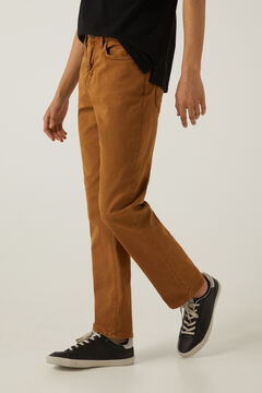 Springfield Pantalón 5 bolsillos lavado marrón