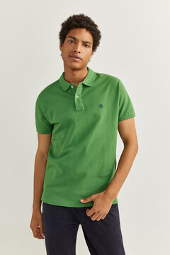 Springfield ESSENTIAL SLIM FIT POLO SHIRT green