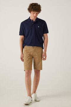Springfield Lightweight stretch belted Bermuda shorts stone