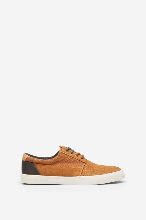 7d357c90b0 Springfield Sneaker combinada urban skate mostaza