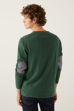 Springfield Essential cotton elbow pads jumper green