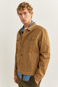 Springfield Blouson en jean comfort beige