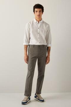 Springfield Pantalon chino comfort woho gris