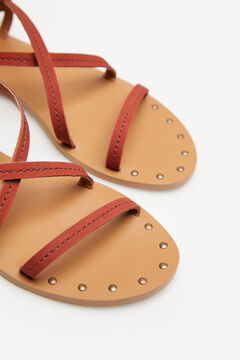 Springfield Leather straps sandal brown