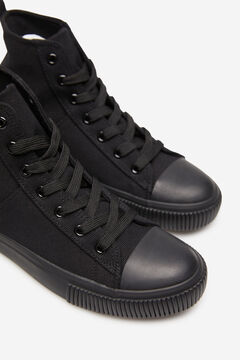 Springfield Canvas high top sneaker black