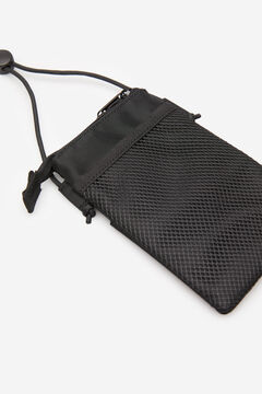 Springfield Black nylon phone bag black