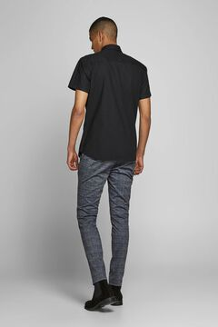Springfield Straight printed trousers grey