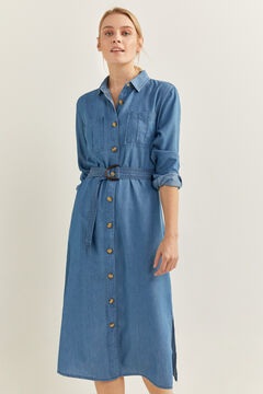 Springfield Tencel Denim Dress steel blue