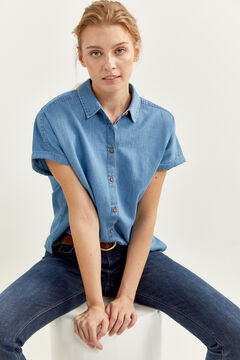 Springfield Denim shirt steel blue