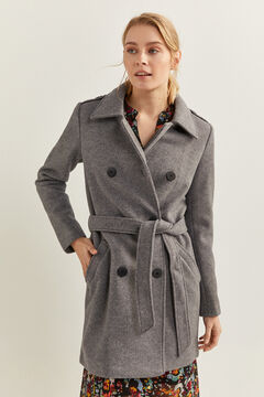 Springfield Double-breasted coat gray