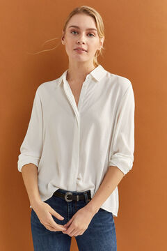 Springfield Plain long-sleeved shirt white