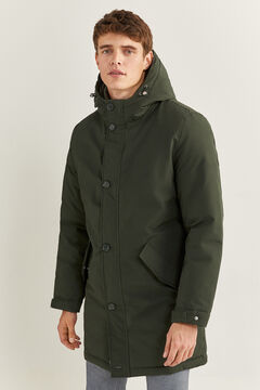 Springfield LONG WATER-REPELLENT PARKA WITH DUPONT™ SORONA® KEEP IT WARM! PADDING dark green