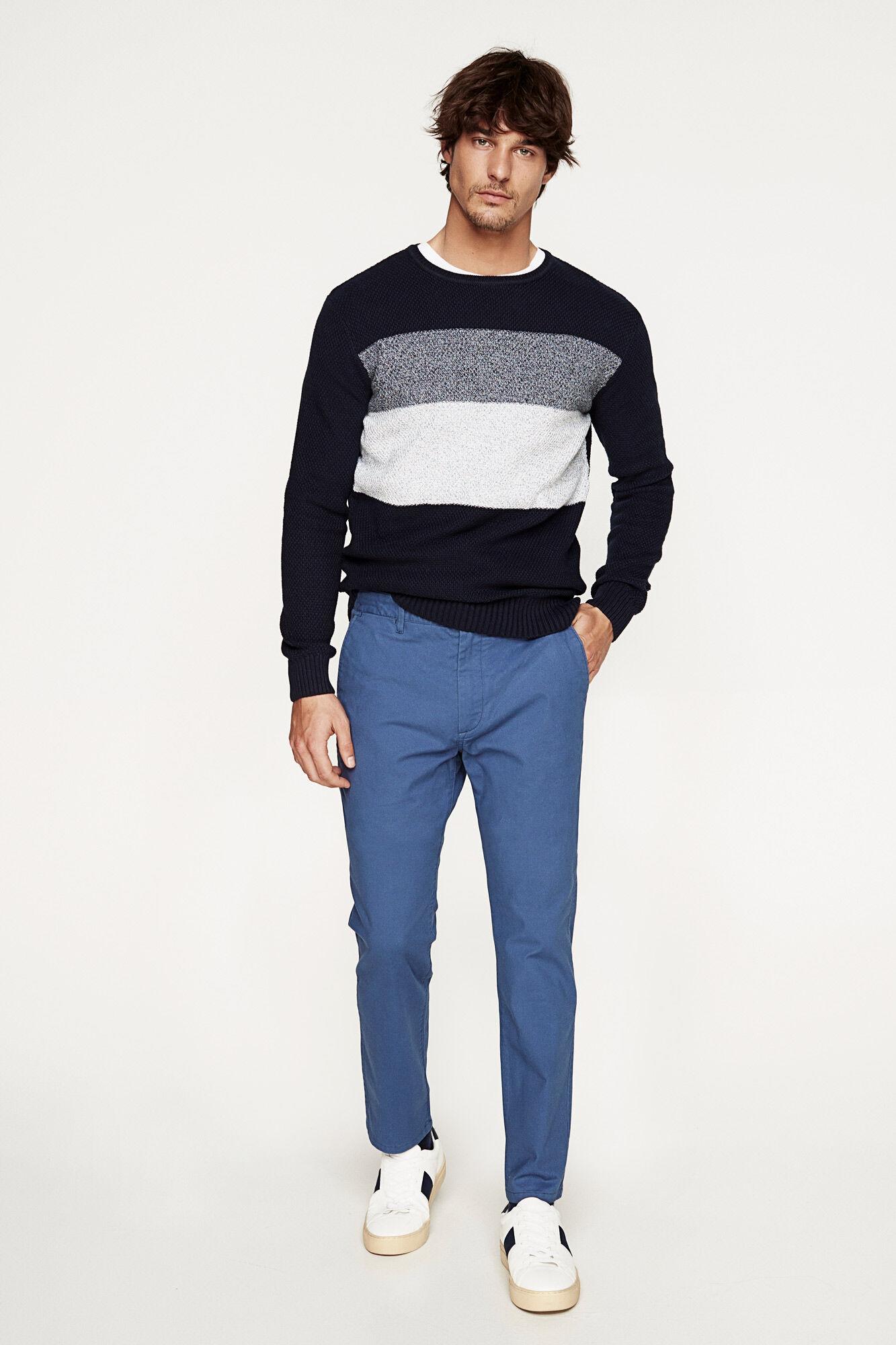 Mens Micro Chino Impression Pantalon Slim Springfield Xu4En6qX