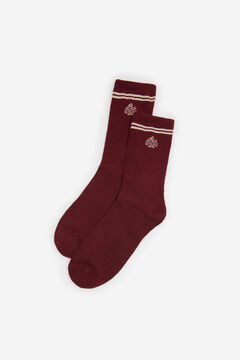 Springfield Lurex embroidery socks brown