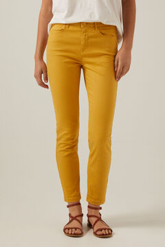 Springfield Slim cropped eco dye coloured trousers color