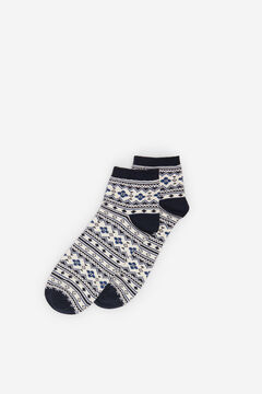 Springfield Jacquard Trim Socks blue