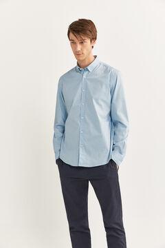 Springfield Printed shirt steel blue