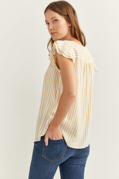Springfield STRIPED BLOUSE WITH RUFFLE SLEEVES color