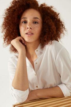 Springfield Oversize poplin blouse white