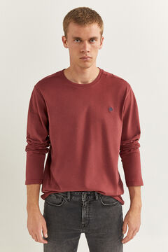 Springfield ESSENTIAL LONG-SLEEVED T-SHIRT rust
