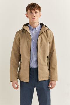 Springfield Hooded technical parka tan