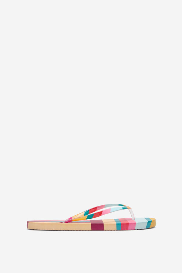 7cb7c9332 Springfield Multicoloured striped sandals pink