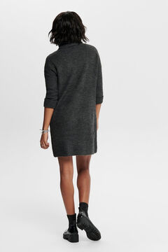 Springfield Polo neck jersey-knit dress  gris