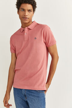 Springfield ESSENTIAL SLIM FIT POLO SHIRT pink