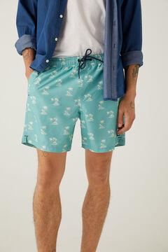 Springfield Palm print swimming shorts violet