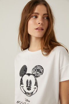 Springfield Mickey T-shirt with sequins white