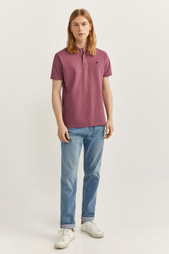 Springfield Essential slim fit polo shirt purple