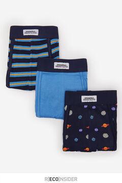 Springfield Pack 3 boxers espaço azulado