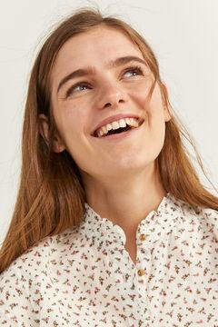 Springfield Romantic Ditsy Floral Print Shirt ecru