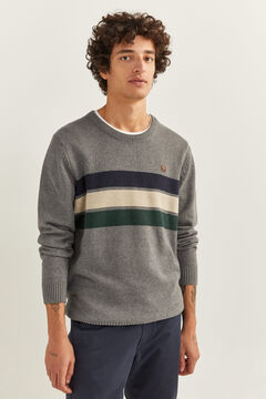 Springfield TEXTURED STRIPES JUMPER grey