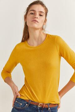Springfield Camiseta lace espalda amarillo