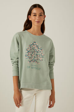 Springfield Organic cotton tree logo sweatshirt green