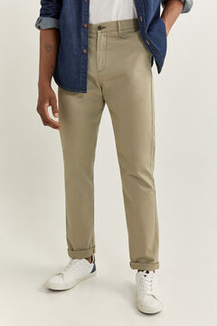 Springfield PANTALON CHINO REGULAR FIT vert