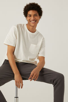 Springfield Boxy t-shirt with pocket white