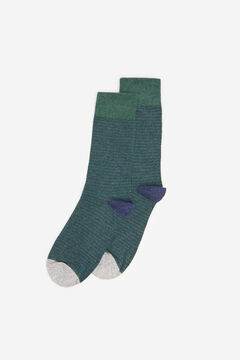 Springfield STRIPED SOCKS dark green