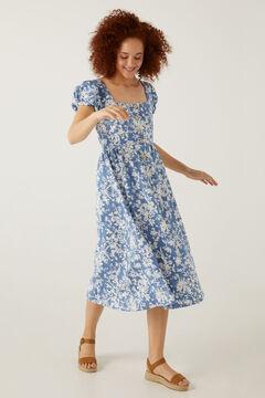 Springfield Midi-Kleid Rücken Fantasie blau