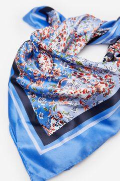 Springfield Floral bandana scarf blue