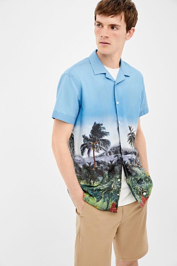 6fdab539b Springfield Camisa estampado italiano azulado